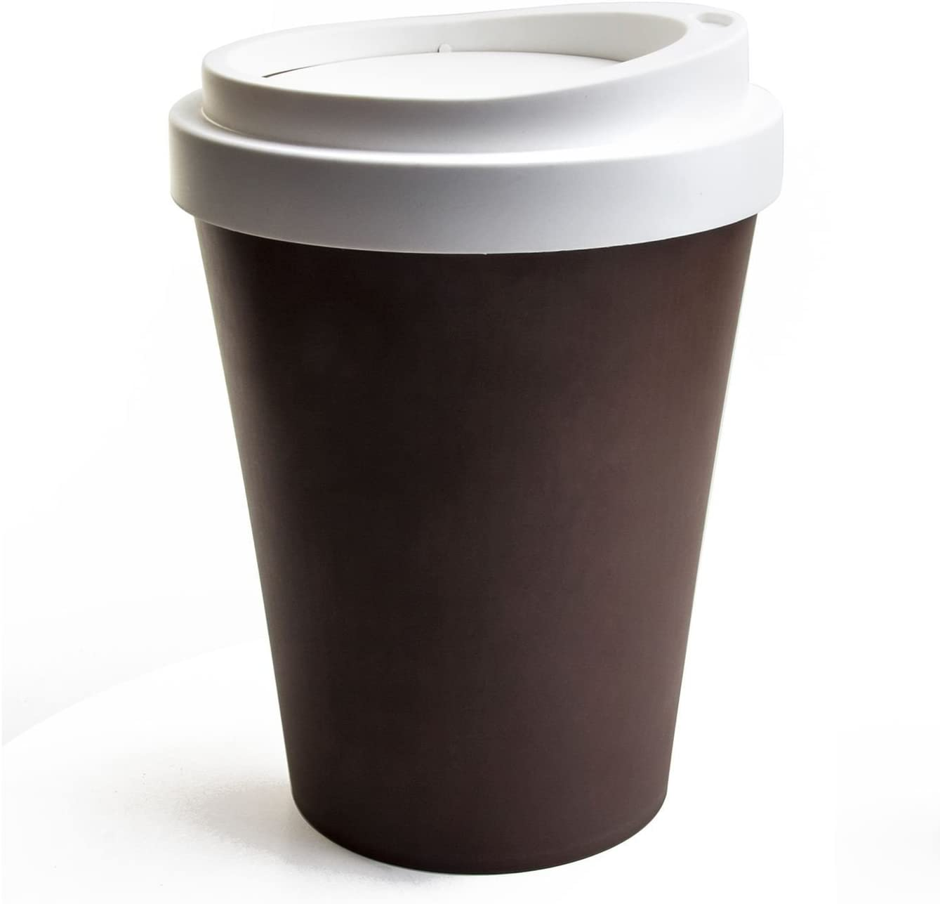Qualy Travel Coffee Cup Rubbish Bin Large Trash Can Flipable