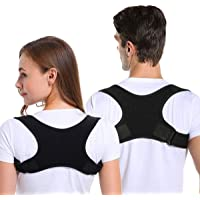 Posture Corrector for Men and Women, Adjustable Upper Back Brace Straightener for Clavicle Support and Providing Pain Relief from Neck, Back and Shoulder (Universal)