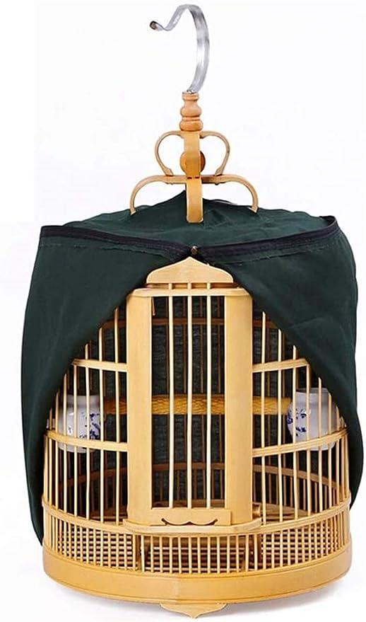 Jaula dpájaros duradera y ecológica, Jaulas de pájaros de cuelga de bambú grande para pequeños loros pinzones canario viajes jaula de pájaros pájaros pájaros PET casero (Color: B, Tamaño: 33cm) Jaula