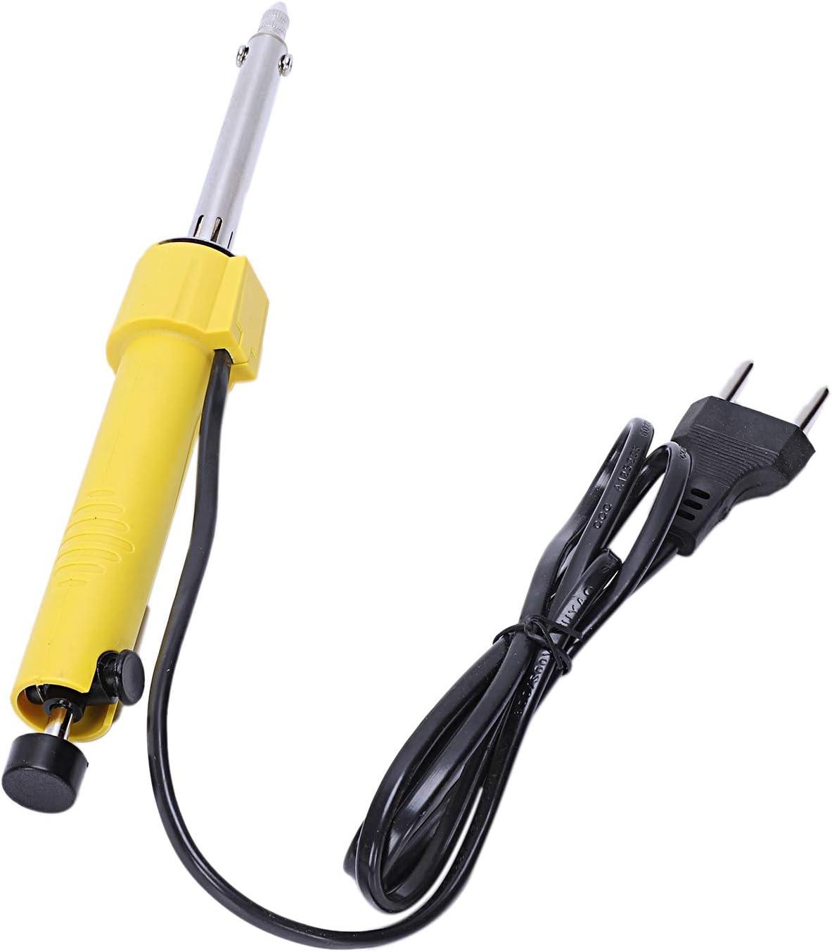 CUHAWUDBA Prise Europ/éenne 220 V 60 W Fer /à Souder /électrique Temp/érature R/églable Soudure Soudure Rework Repair Tool 5 Pcs Pointe De Soudure