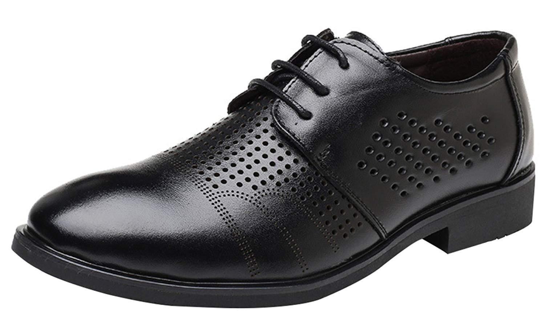 Oudan Herren Sommer Sandalen Business Casual Schuhe Spitze Derby Schuhe Mode Hohl (Farbe   3, Größe   38EU)