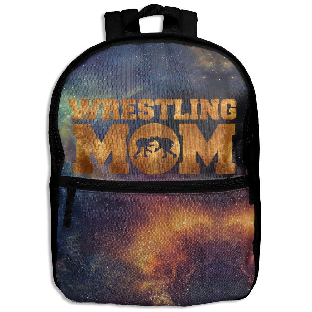 Wrestling Mom Gold Children's Character Casual School Backpacks Travel Bag