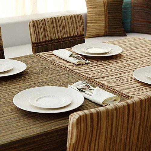 A 140140CM Beau Linge de table Tissu en tissu table à café Table à hommeger en chanble simple Toile voiturerée Toile à épicer (2 couleurs en option) (taille facultative) durable (Couleur   A, taille   140  140CM)