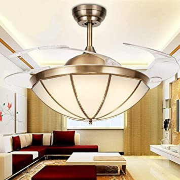 Remote Control 3 Colors And 3 Speeds Adjustable Tengchang 42 Ceiling Fan With Led Light