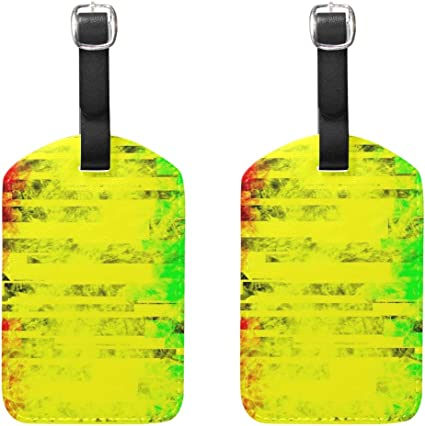Dead Skull Seamless Travel Luggage Tags With Full Privacy Cover Leather Case And Stainless Steel Loop