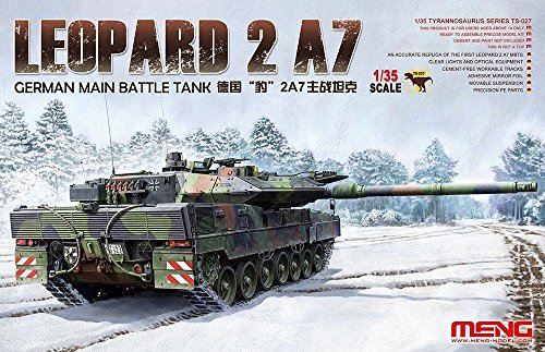 Meng 1:35 Leopard 2 A7 German Main Battle Tank Plastic Model Kit #TS027 (Leopard 2 Main Battle Tank)