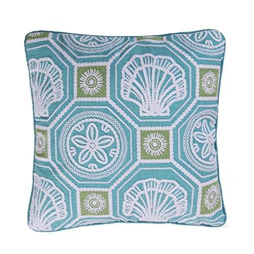 Levtex Ocean Springs Crewel Embroidered Shells Pillow ()