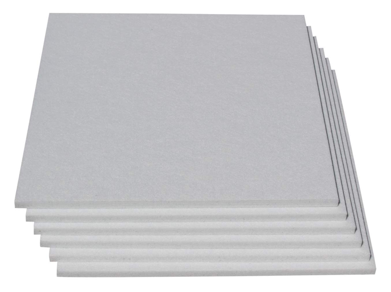 Dense Polyester Soundproofing Acoustic Panels Designed For Sound Absorption - 6 Tiles Per Pack - Great For Noise Treatment In Studios, Broadcast, Gaming, Office & More (White)