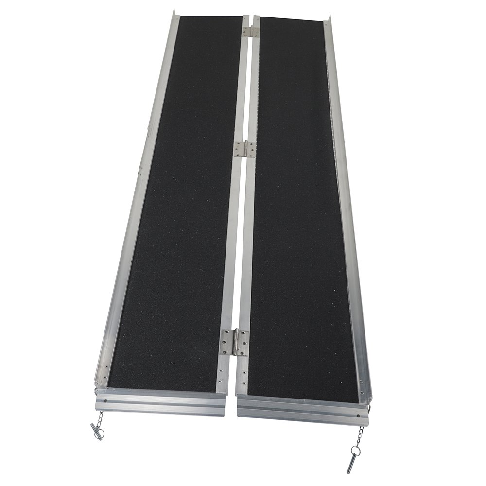 6' ft Wheelchair Scooter Mobility Ramp Portable Suitcase Threshold Ramps Non-Slip 72'' L x 29'' W