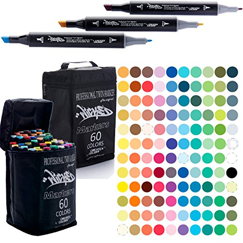 Wicked Markers Double-Ended Art Markers Complete Set - 120 by Createx Colors