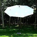 Outsunny 8′ Outdoor Patio Market Umbrella – Cream White and Brown