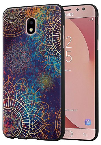 Samsung Galaxy J3 2018/J3 Orbit/J3 Achieve/J3 Express Prime 3/J3 Prime 2/J3 Emerge 2018/Amp Prime 3/J3 Eclipse 2/Sol 3/J3 Aura/J3 Star Case,Harryshell Slim Thin Tpu Skin Soft Cover (Flower)