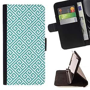 """For Samsung Galaxy J1 J100,S-type Enlaces verde del modelo del papel pintado"""" - Dibujo PU billetera de cuero Funda Case Caso de la piel de la bolsa protectora"""