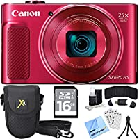 Canon PowerShot SX620 HS Digital Camera Plus Accessory Bundle - 16GB SDHC Memory Card, Carrying Case, Mini Tripod, Screen Protectors, Cleaning Kit, Beach Camera Cloth and More