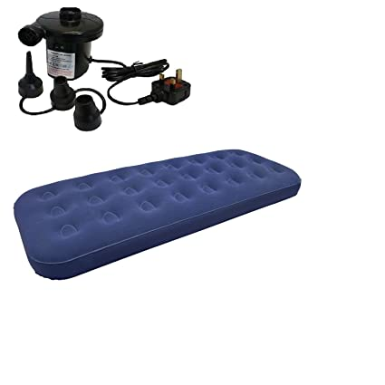 Unibos - Colchón hinchable individual, incluye bomba de aire ...