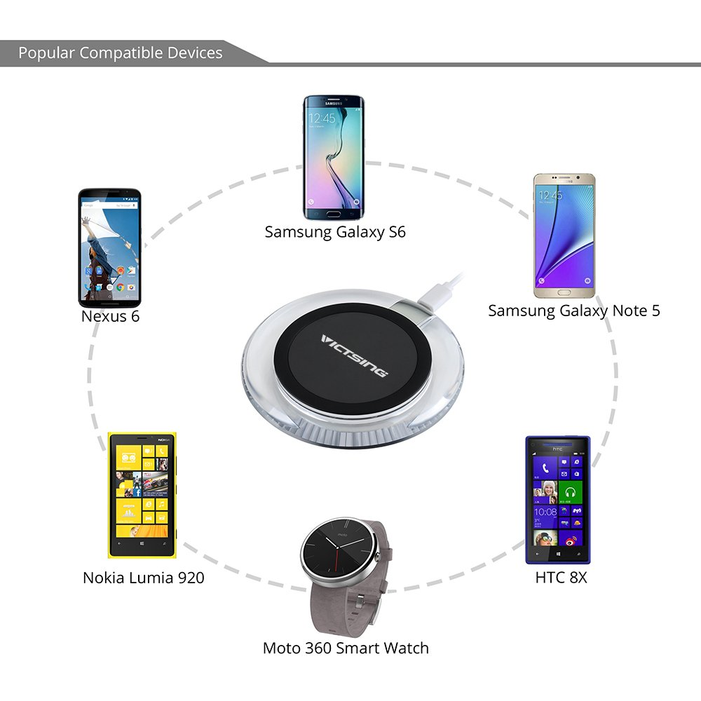 Amazon Com Victsing Qi Wireless Charger, A Wireless Charging Pad Samsung  Galaxy Tab 3 Samsung Galaxy Tab 2 Charger Wiring Diagram