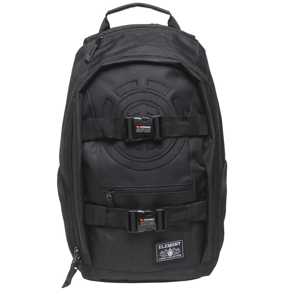 ELEMENT Unisex-Adult's Mohave Backpack with Skate Straps and Laptop Sleeve, All Black, One Size