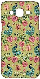 جراب Macmerise Payal Singhal Anar And Mor Olive Sublime لهاتف Samsung On7 Pro