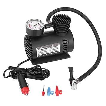 WAOBE Compresor De Aire Auto del Coche, Mini Bomba Eléctrica Portable del Inflador De 12V