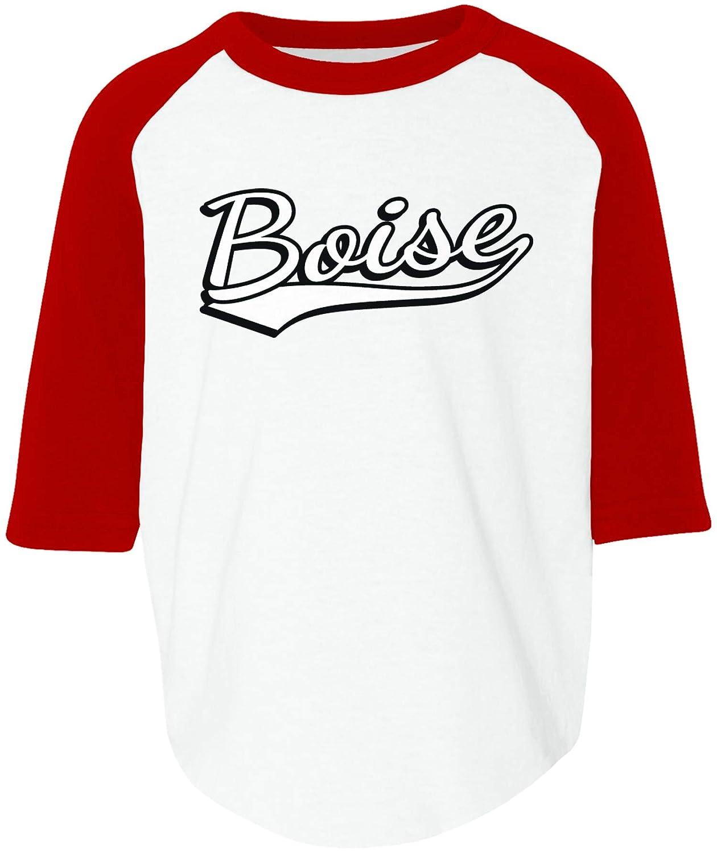 Amdesco Boise Idaho Toddler Raglan Shirt