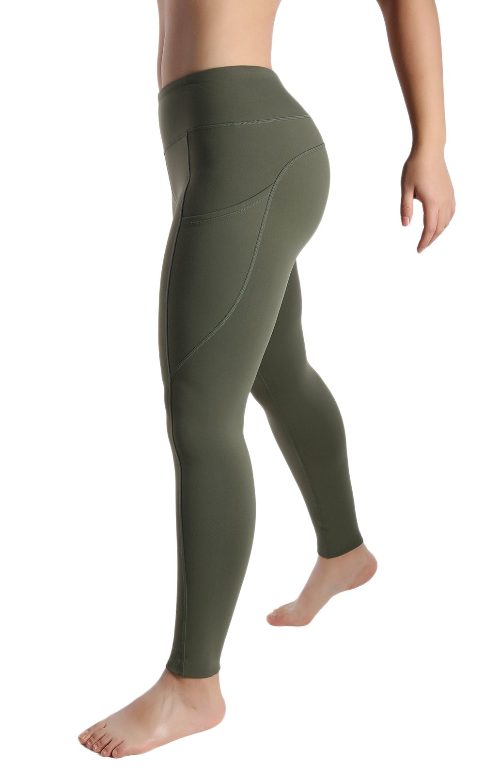 a97050ddadff9 Womens Out Side Pocket Wod Capris Compression Pants Yoga Workout Leggings  Full Sizes product image