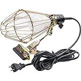 クリップライト 作業灯 led ワークライト led 電球付き 60w形相当 800lm E26 広配光 電球ガード付き 工事現場用 屋内用