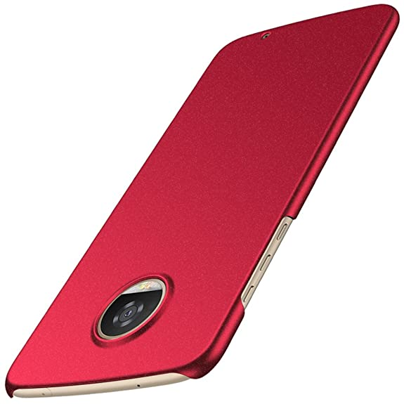 Anccer Motolora Moto Z2 Play Case [Colorful Series] [Ultra-Thin] [Anti-Drop] Premium Material Slim Ultra Thin Cover (Gravel Red)