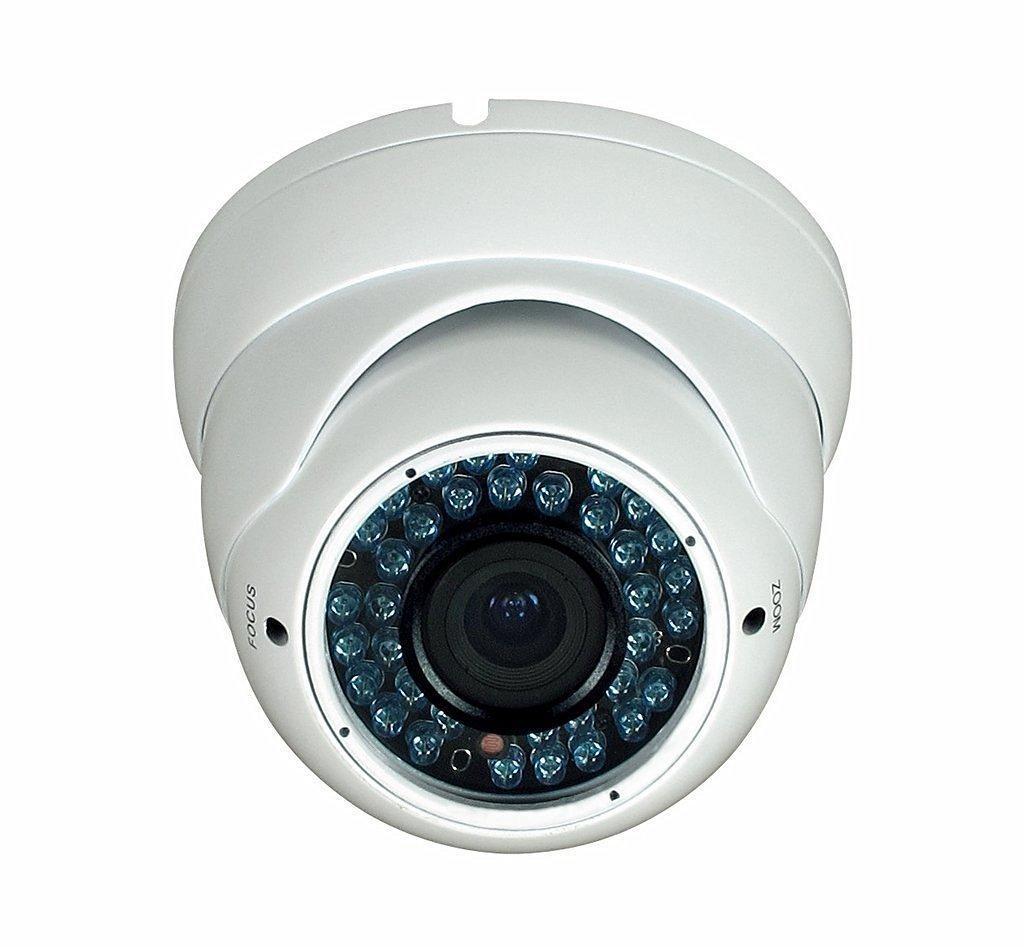 BW BWND4S 2.0MP High Definition Sony DSP 4-in-1 CCTV FormatTVI + CVI + AHD + CVBS Hybrid output 1080p Dome Security Camera 2.8-12mm Vari-Focal HD Lens 42x IR LEDs IR Range 40m-White