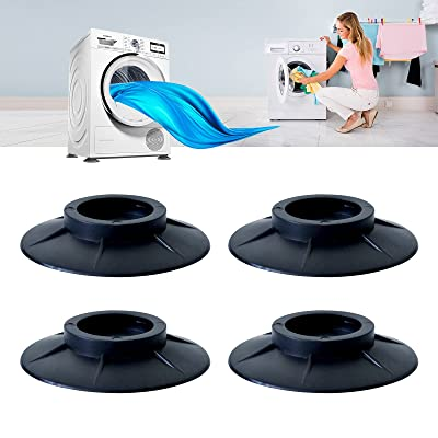 Anti-vibration Rubber Foot Pads Ideal Protector Mats for Keep in Place for all Washing Machine Dryer 4 Pcs Washing Machine Feet Pads