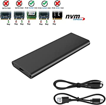 for PC Computer 10Gbps M.2 NVME SSD Solid State Drive to USB 3.1 C Adapter Enclosure Case PCI-E//Key M Channel