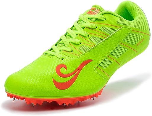 Zapatillas De Atletismo para Hombres, Zapatillas Clavos para Correr Livianos 8 Clavos para Sprint Junior Unisex Zapatos De Salto Largo Competencia Transpirable Dedicado: Amazon.es: Zapatos y complementos