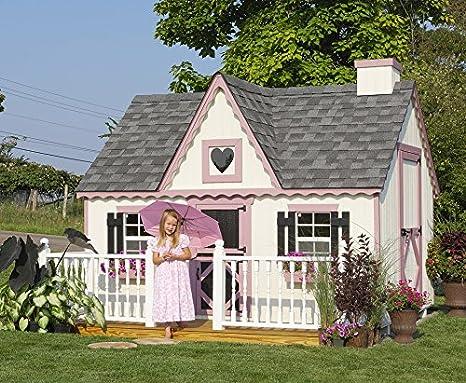 Amazon Com Little Cottage Company Victorian Diy Playhouse Kit 10 X 12 Furniture Decor