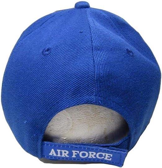 US Air Force Veteran Letters On Bill Crest Blue Embroidered Cap Hat CAP593DA