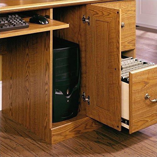 Scranton & Co Wood Computer Desk with Hutch in Carolina Oak