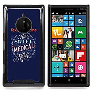 Planetar ( Medicina de Texas Medical Corazón Azul ) Nokia Lumia 830 Fundas Cover Cubre Hard Case Cover