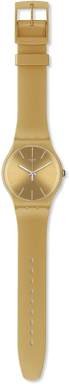 Swatch Golden Rebel SUOZ119 - Reloj analógico de Cuarzo para Hombre con Correa de plástico, Color Dorado