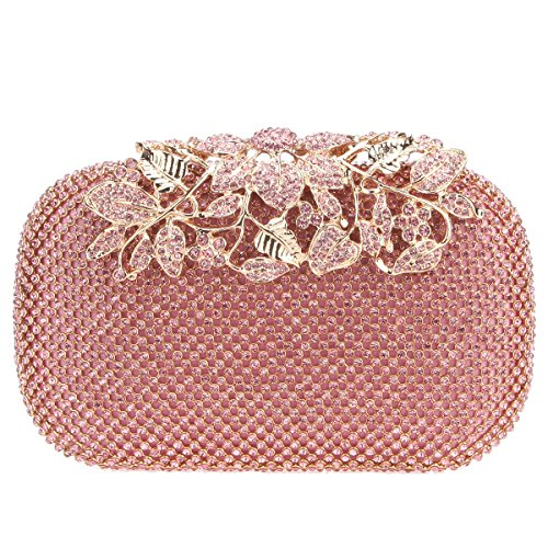 Fawziya Flower Purses With Rhinestones Crystal Evening Clutch - Uk Online Designer Outlet