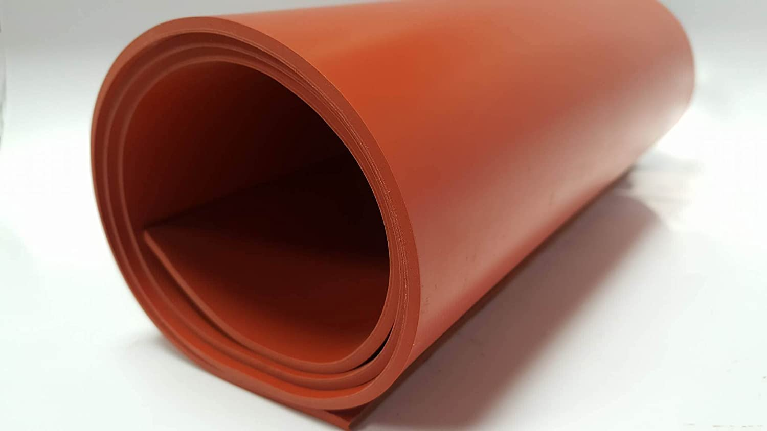 0.125 Thickness Red No Backing Silicone Sheet 70A Durometer 12 Length Smooth Finish 12 Width