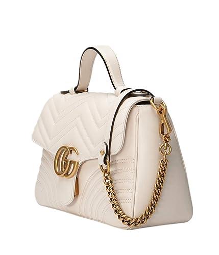 489e09594d8 Womens Handbag G G Marmont Small Top Handle Bag Wallet White (White ...