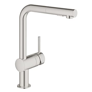 Grohe 30300dc0 Minta Pull Out Kitchen Faucet In Super Steel