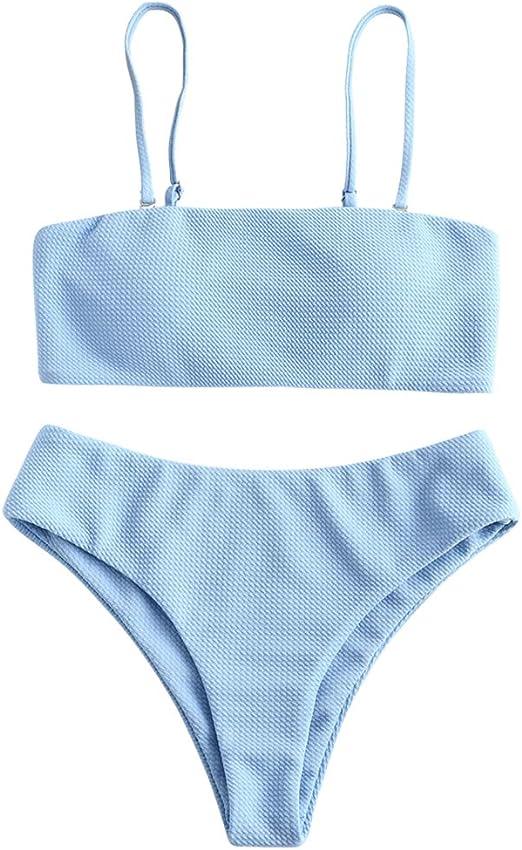 cute bikini sets cheap babyblue