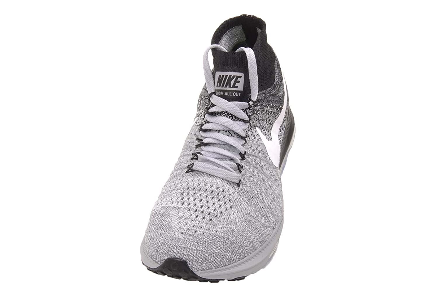 Nike Women's Zoom All Out Flyknit Running Shoes B01M4IUSHF 9 B(M) US|Wolf Grey / White - Black