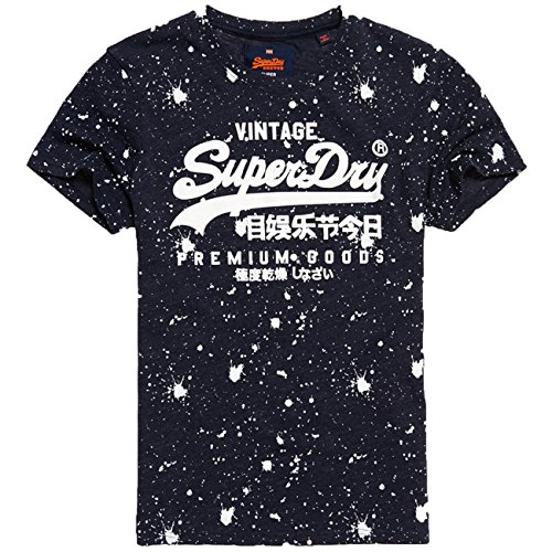 Superdry Uomo Maglieria/T-Shirt Premium Goods Paint Splatter