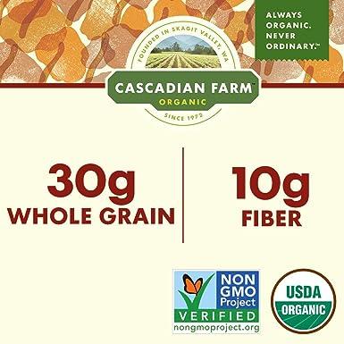 Cascadian Farm Cereal de fibra orgánica para la mañana sana ...