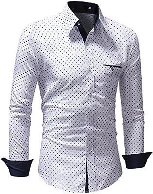 Sunnyuk Hombre de Camisa de Slim Fit para Traje Business Bodas Camisas para Hombres Camisa de Manga Larga: Amazon.es: Deportes y aire libre