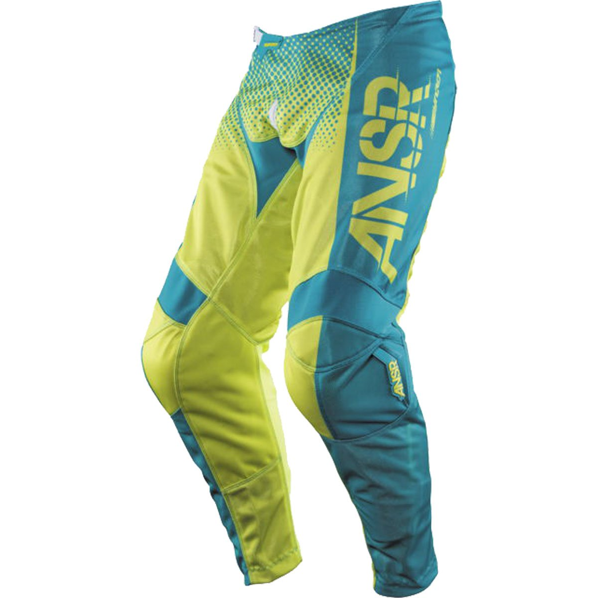 Answer Racing A17.5 Syncron Air Boys Off-Road Motorcycle Pants - Yellow/Blue / Size 18 by Answer