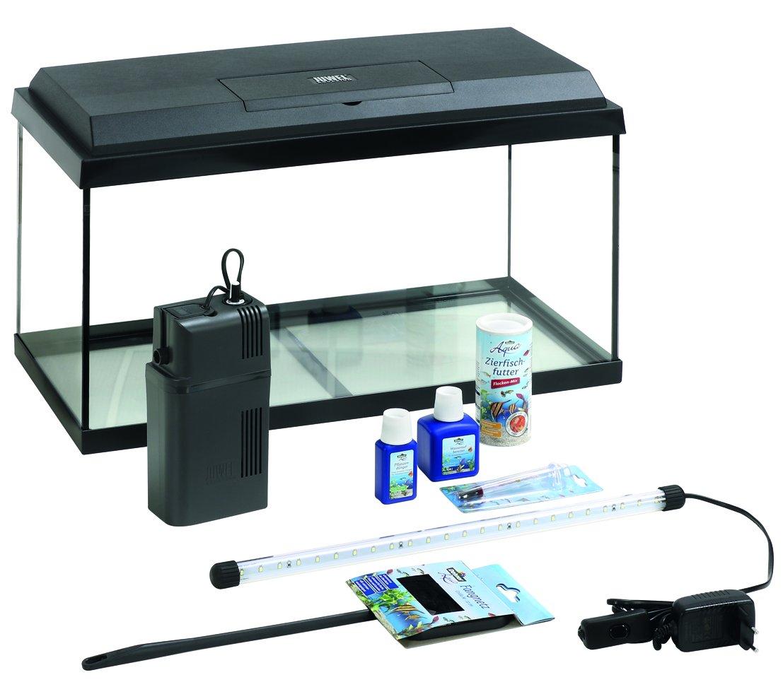 Dehner Aqua Aquarium Starterset, inklusiv Futter und Pflegeprodukten ca. 81 x 36 x 45 cm 3137858