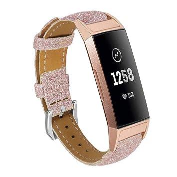 Amazon.com: LolStore Fitbit Charge 3 bandas de piel ...