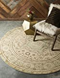 Cheap Unique Loom Palace Collection Traditoinal Geometric Classic Light Green Round Rug (3′ x 3′)