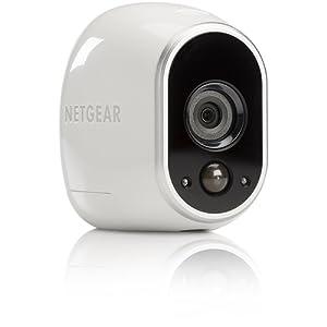 Arlo NETGEAR - Smart Caméra VMC3030-100EUS, Caméra HD 100% sans Fil Additionnelle, Vision Nocturne, Etanche Intérieure/Extérieure